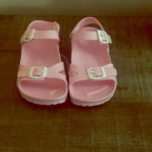 Pink Girls Size 1 jelly sandals brand new